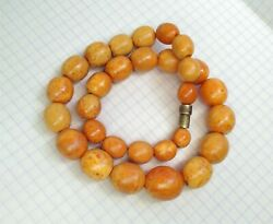 Antique Natural Amber Beads Length 37 Cm