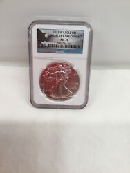 Ngc Ms70 2013 W Annual Uncirculated Dollar Coin Set Burnished Silver Eagle