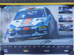 Rare Signed Colin Mcrae Nicky Grist Malcolm Wilson Wrc Ford Focus Posters