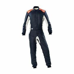Omp Italy One S My20 Racing Suit Navy Blue Fia Homologation 52
