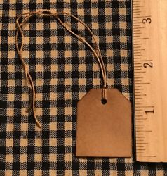 100 Primitive Coffee Stained Small Fat Punched Tag Hang Tags Price Lot