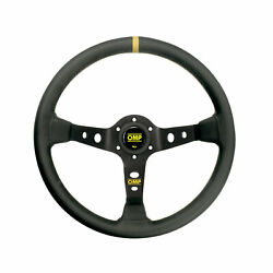 Top Omp Italy Corsica Black-yellow Leather Steering Wheel