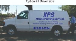 Business Van Vinyl Lettering Signs Company Name Decals 2 Sides And Back 1 Color