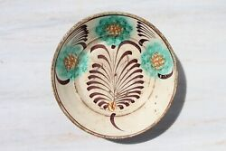 An 19th Century Important And Very Rare Spongeware Portuguese Bowl, Earthenware
