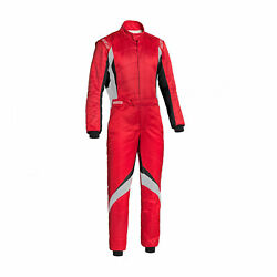 Sparco Italy Superspeed Rs-9 Racing Suit Red Homologation Fia 50