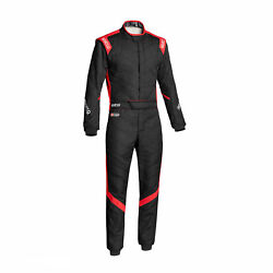 Sparco Italy Victory Rs-7 Racing Suit Black/red Homologation Fia 56