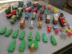 Lot Of Over 30+ Vintage Thomas The Tank Engine And Friends Wooden Toys