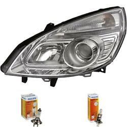 Headlight Right For Renault Scenic Ii Type Jm Phase Ii Year 06-09 Hella H7 +h1