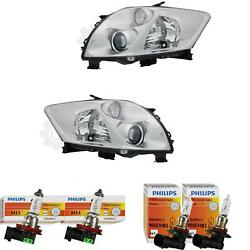 Headlight Set For Toyota Auris 10.06- Valeo System H11/hb3 Without Engine