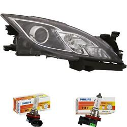 Headlight Right Mazda 6 Gh Year 08-10 H9 +h11 Incl. Philips Lamps 56754363