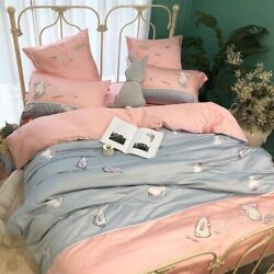 Cute Bedding Sets Duvet Cover Sets Animal Tencel Bamboo Ultra Soft Bed Sheet Set