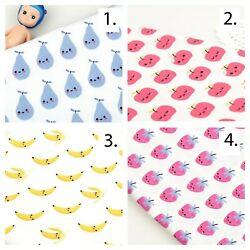 Smiley Fruit Printed Cotton Poplin Fabric By The Yard