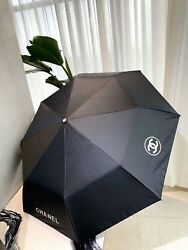 Brand New Cc Umbrella Black Luxury With Gift Box And Leather Bag Vip