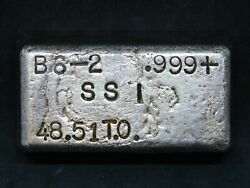 Ssi 48.51 Troy Oz .999 Silver Bar Made In Usa