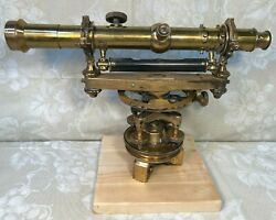 F Weber Brass Surveyors Transit Early 1900s No Carrying Case Or Tripod Stand