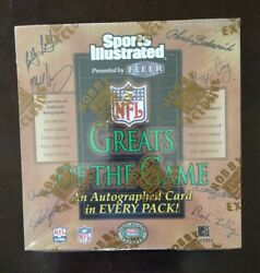 1999 Fleer Sports Illustrated Greats Of The Game Football Unopened Box Auto
