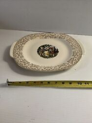 Taylor Smith China Numbered 22kt Gold Layered Colonial Couple Serving Plate