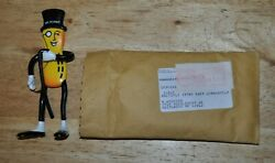 Mr Peanut Doll Planters Peanuts Rubber Bendable Figure With Shipping Envelope
