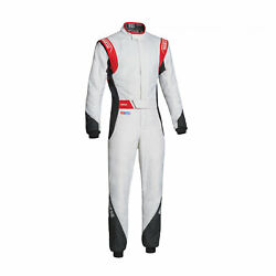 Eu Sparco Italy Eagle Rs-8.2 Racing Suit White - Red Fia S 50