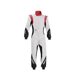 Eu Sparco Italy Eagle Rs-8.1 Race Suit White/red Fia S 48