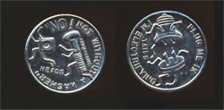 Set Of 2 Brilliant Tokens Usa And Canada Head Vs. Tail Canadian Tire
