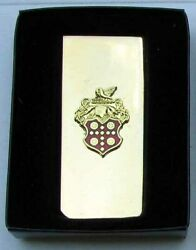 Nos Packard Gold And Cloisonne Money Clip In Original Box G286s