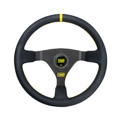 Omp Italy Wrc Leather Yellow Stitching Steering Wheel Eu