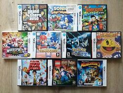 Best Lot 10 Nintendo Ds And 3ds Games Gta Pacand039n Roll Sealed Pokemon Etc.