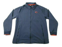 Chicago Bears Nike Team Issued Game Used Sideline Jacket Xl 23 Very Warm Fleece