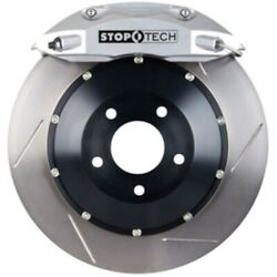 Stoptech 83-625004g61 Rear Big Brake Kit 345mm X 28mm 2 Piece Slotted Rotors Sil