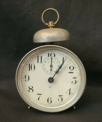 Vtg Ansonia Alarm Clock Co Made In Usa For Parts As-is