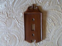 Vintage Nostalgic Single Metal Brown Light Switch Plate Collectable 1970's