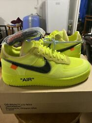 Brand New Ds Nike Air Force 1 Low Off-white Volt Size 9.5