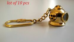 Nautical Brass Mini Diving Helmet Key Chain Collectible Key Ring Gifted Item