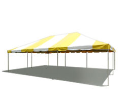20and039 X 30and039 Pvc Weekender West Coast Frame Tent - Yellow And White - Party Event