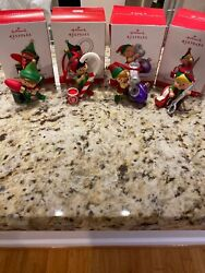 Hallmark 2013 2014 2015 And 2016 North Pole Tree Trimmers Lot Of 4