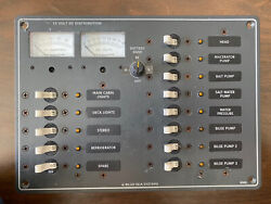 Blue Sea Systems 8068 Dc 13 Position / Voltmeter/ammeter Circuit Panel Pre Owned