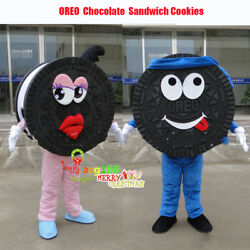 Sandwich Cookies Mascot Adversting Costumes Suits Dessert Dress Chocolate Outfit