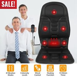 Shiatsu Back Massager Seat Cushion Neck Back Shoulders Chair Pad Home And Office
