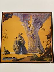 Yes Psa Full Letter Signed Autograph Album Flat 12x12 Signed By 4 Rare