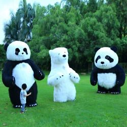 Inflatable Panda Mascot Costume Cosplay Party Game Dress Outfit Halloween Adult