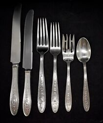 Wedgwood International Sterling Silver Super Set For 8 Dinner Size And Luncheon