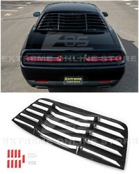 Abs Plastic Rear Window Louver Sun Shade Cover For 08-up Dodge Challenger