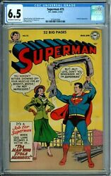 Superman 75 Cgc 6.5 Prankster New Cgc Case 52-page Special Golden Age Dc 1952