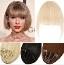Natural Look 100 Human Hair Fringe Bangs Clip In For Adult Women Hair Accessory