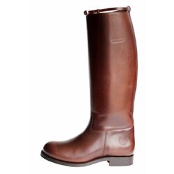 French Biker - Embossy Patrol Motorcycle Riding Boots -calf M Brown
