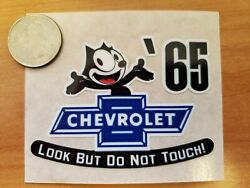 And03965 Felix The Cat Chevrolet Look But Do Not Touch Inside The Glass Die Cut Decal