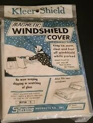 New Vintage Kleer Shield Auto Car Windshield Cover Magnetic By Sterling Corp