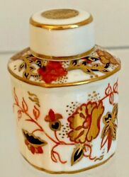 Extremely Rare Royal Crown Derby 8687 Asian Rose Miniature Tea Caddie - 1940