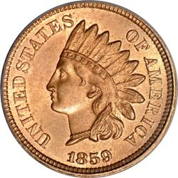 1859 Indian Head Cent Pcgs Ms 64 Snow 2 Cac And Photoseal Old Holder Undergraded